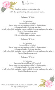 newborn photography prices in oswewestry