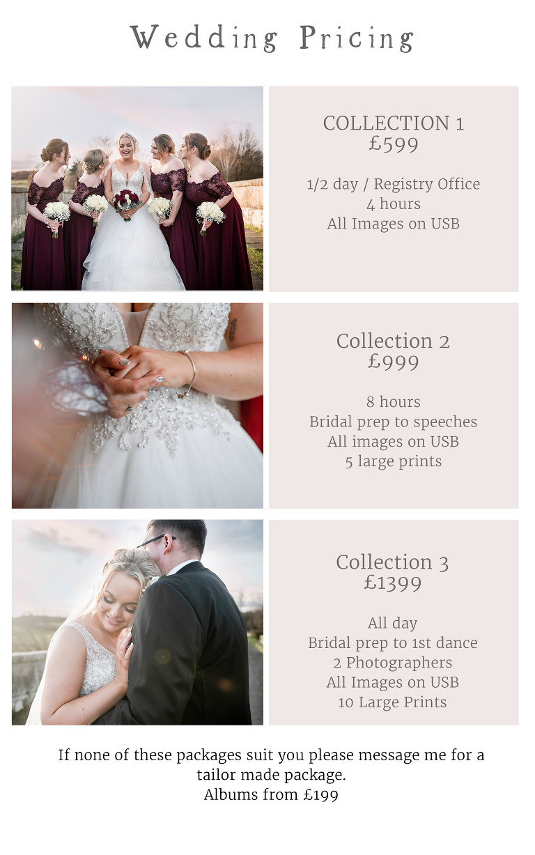 wedding pricing shropshire
