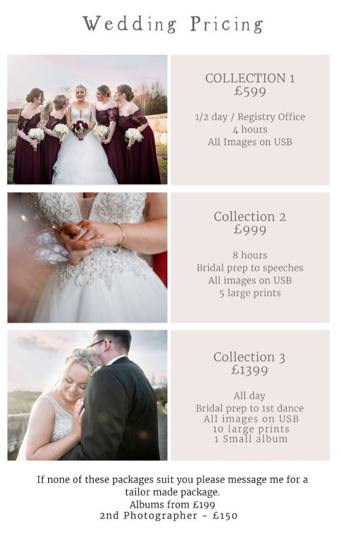 Wedding Photography Pricing Oswestry Shropshire